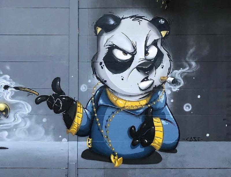 El propósito de esta imagen es mostrar un ejemplo de una mural profesional de wild style