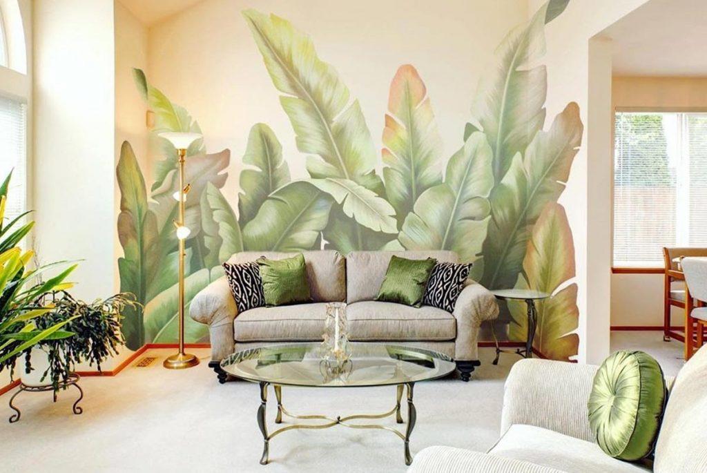 El propósito de esta imagen es que los futuros clientes vean un ejemplo de graffiti de naturaleza, en concreto de plantas